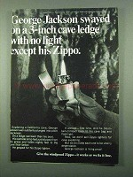 1969 Zippo Cigarette Lighter Ad - Cave Ledge