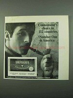1969 Amphora Tobacco Ad - Connoisseur's Choice