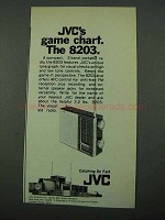 1969 JVC 8203 Radio Ad - Game Chart