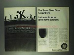 1969 Sears Silent Guard Sealant Tire Ad - Reminder