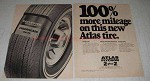 1969 2-pg Atlas Plycron 2 Plus 2 Tire Ad - More Mileage