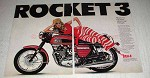 1969 BSA Rocket 3 Motorcycle Ad - Man Who's Man Enough