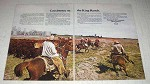 1969 Standard Oil Corporation Ad - Coexistence on Ranch