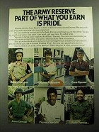 1976 U.S. Army Reserve Ad - Part What You Earn is Pride
