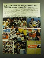 1976 Coleman Coolers and Jugs Ad - Rugged Ways