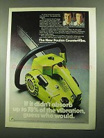 1976 Poulan Super XXV CounterVibe Chain Saw Ad