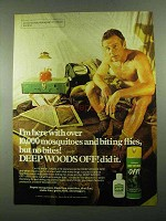1976 Deep Woods Off! Insect Repellent Ad - No Bites