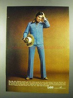 1976 Lee Separate Lees Suit Ad - Zip Zip Zip