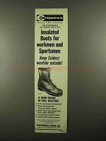 1976 Chippewa 6344 Boot Ad - Insulated Boots