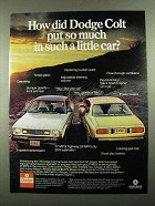 1976 Dodge Colt Carousel and Colt GT Car Ad