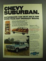 1976 Chevy Suburban Ad - Superwagon Can Seat