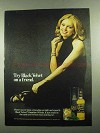 1976 Black Velvet Canadian Whisky Ad - Try On a Friend