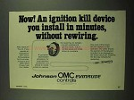 1976 OMC Controls Ad - Ignition Kill Device You Install