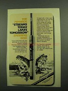 1976 Fenwick FS70 and GFS70 Spinning Rod Ad