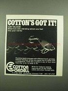 1976 Cotton Cordell Gay Blade Metal Lure Ad