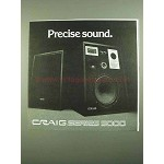 1976 Craig Series 5000 Speakers Ad - Precise Sound