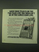 1976 Slim Jim Smoked Beef Snacks Ad - Your Team