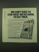 1976 Slim Jim Smoked Beef Snacks Ad - Don't Stop