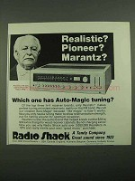 1976 Radio Shack Realistic STA-225 Stereo Receiver Ad