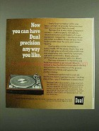 1976 Dual 1249 Turntable Ad - Precision Anyway You Like