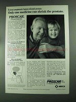 1994 Merck Proscar Ad - Only One Medicine Can Shrink
