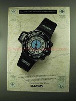 1993 Casio Digital Compass Watch Ad - These Directions