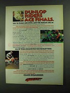 1993 Dunlop Tires Ad - Riders Ace Finals