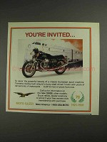 1992 Moto Guzzi 1000S Motorcycle Ad - You're Invited