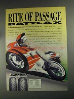 1991 Bridgestone Battlax BT-50 Tire Ad