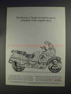 1991 Honda Motorcycles Ad - Dealer Incentives Are In