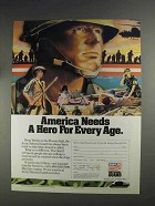 1991 U.S. Army National Guard Ad - A Hero for Every Age