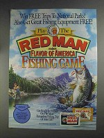 1991 Red Man Tobacco Ad - Trips to National Parks