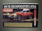 1991 Rancho RS 1000 Suspension Ad - Sweepstakes