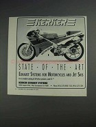 1991 Kerker Exhaust Systems Ad - State of the Art