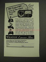 1937 Weston Exposure Meter Ad - The Perfect Gift