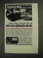 1937 Weston Exposure Meter Ad - Traveling