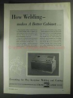 1936 Union Carbide Linde Welding Ad - Better Cabinet