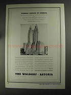 1936 The Waldorf Astoria Hotel Ad - Tanners' Council