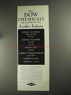1936 Dow Chemicals Ad - Leaders in Leather Industry