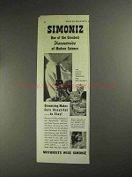 1936 Simoniz Wax Ad - Greatest Discoveries of Science