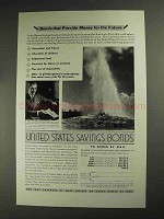 1936 United States Savings Bonds Ad - Money for Future