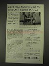1936 International Nickel Monel Metal Ad - Supplies