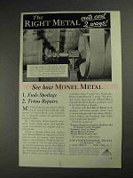 1936 International Nickel Monel Metal Ad - Cuts Cost