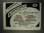 1936 Monsanto Chemicals Ad - For The Tanning Industry