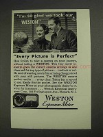 1936 Weston Exposure Meter Ad - I'm So Glad We Took