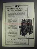 1927 USMC Ad - Goodyear Twin Sole Moudling Machine B