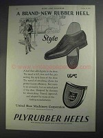 1927 United Shoe Machinery Ad - Plyrubber Heels