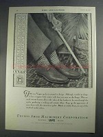 1927 United Shoe Machinery Ad - Vogue Eyelet