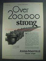 1927 Johns-Manville Steam Traps Ad - 200,000 Strong