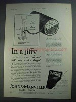 1927 Johns-Manville Mogul Coil Packing Ad - In a Jiffy
